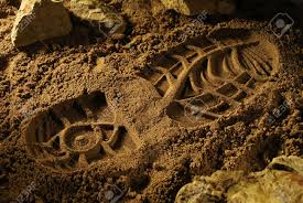 Footprint in soil