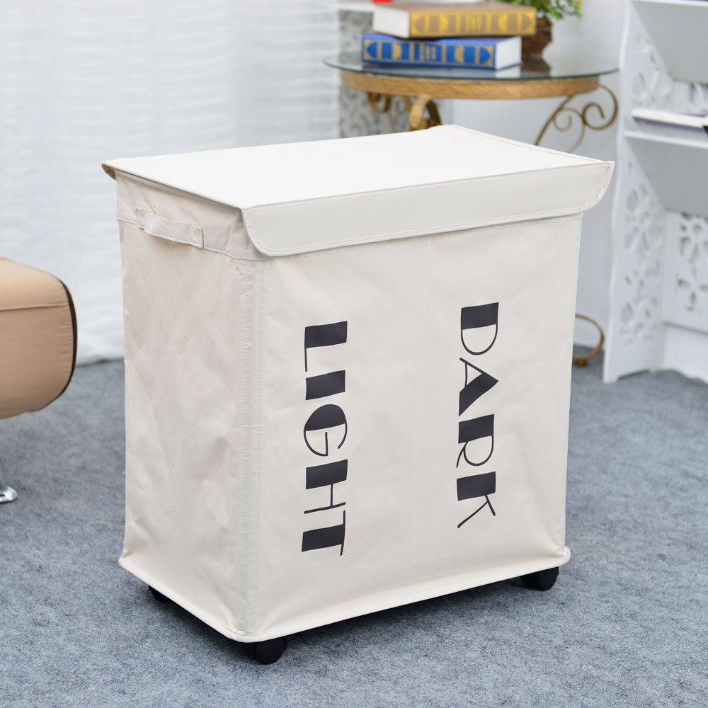 Dirty Laundry Baskets Details About 2 Lattice Laundry Basket Dirty Clothes Bin Sorter Bag Hamper Rolling Storage