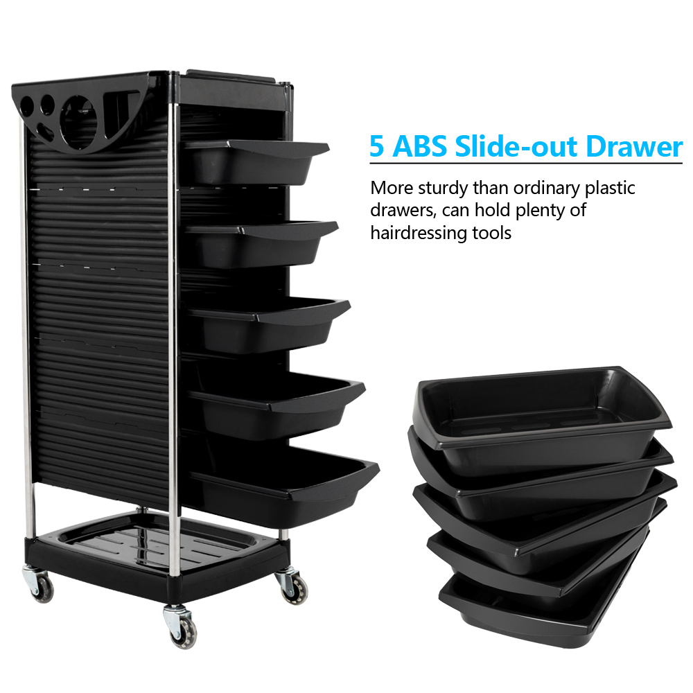 A Frame Trolley Details About Heavy Duty Steel Frame Beauty Salon Rolling Trolley Cart Storage With 5 Drawers