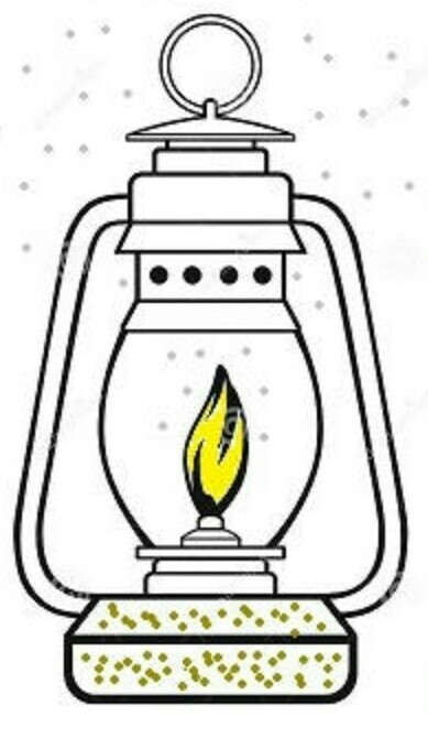 In an oil lamp draw the arrangement of particles of gas and liquid - liquid particles