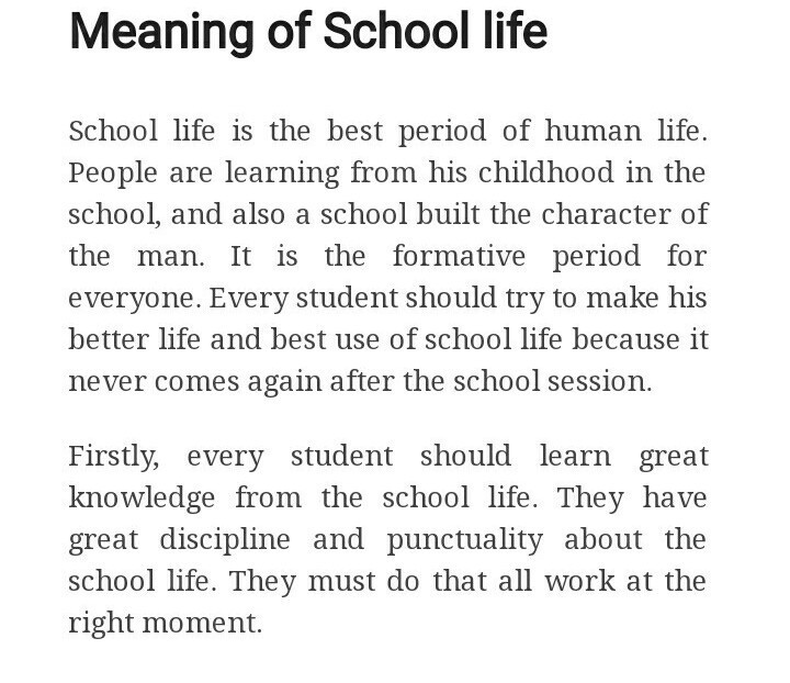 school days are the happiest days of our life English essays