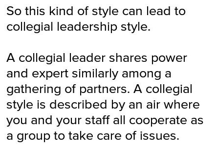 Describe a project or activity that highlights your leadership style