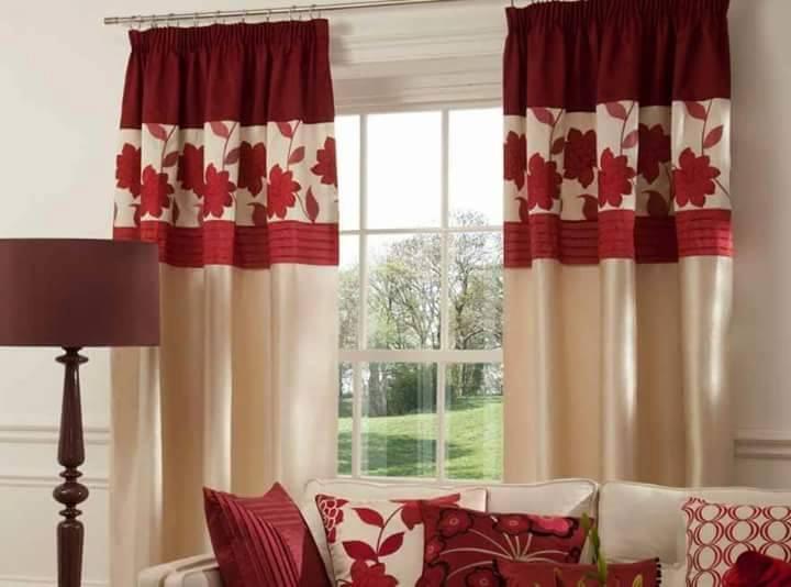 Comfortable Idea Langsir Terkini Moden Dengan Warna Merah Langsir