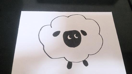 羊の簡単な書き方3