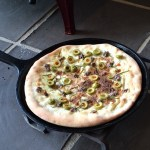 第2弾!!薪ストーブで焼くピザのデモンストレーション