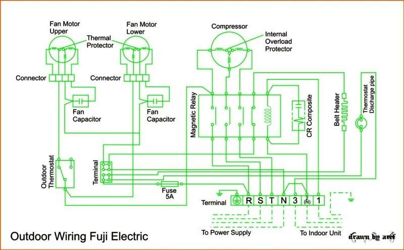 wiring diagram for split ac unit