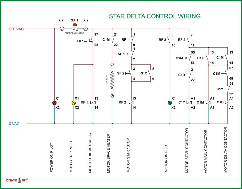 Star Delta Panel Wiring Diagram Wiring Diagram 2019