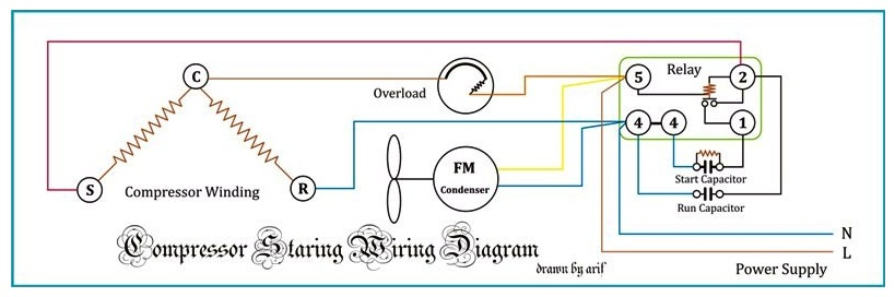Refrigeration Compressor Wiring Diagram - Example Electrical Wiring