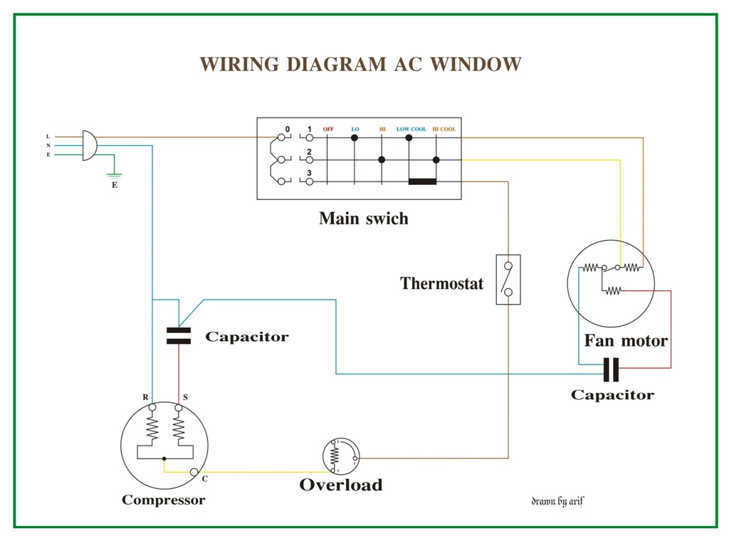 window air conditioner wiring diagram