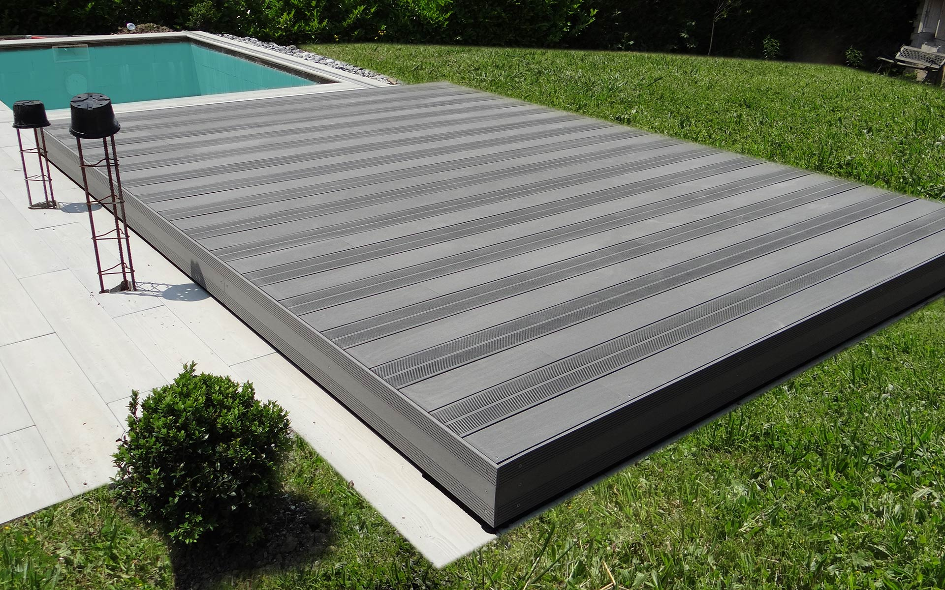 Spa De Nage Exterieur Occasion Terrasse Mobile Pour Piscine - Hidden Pool - Fond Mobile
