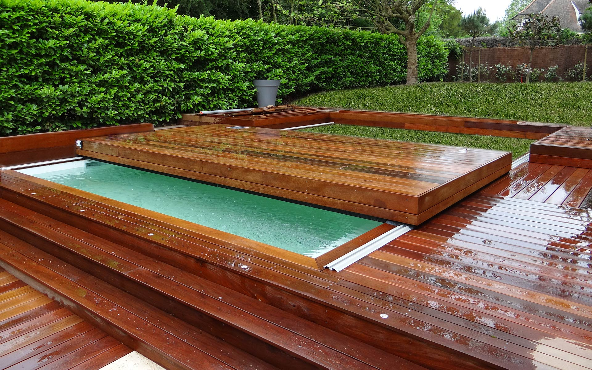 Terrasse Pour Piscine Terrasse Mobile Pour Piscine - Hidden Pool - Fond Mobile