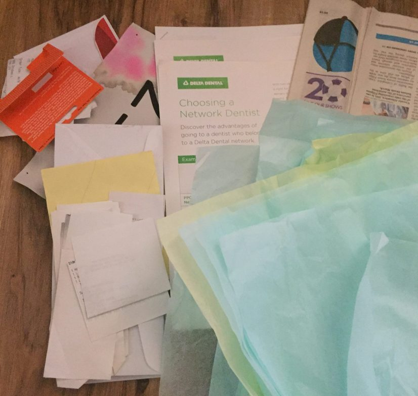 declutter challenge more paper