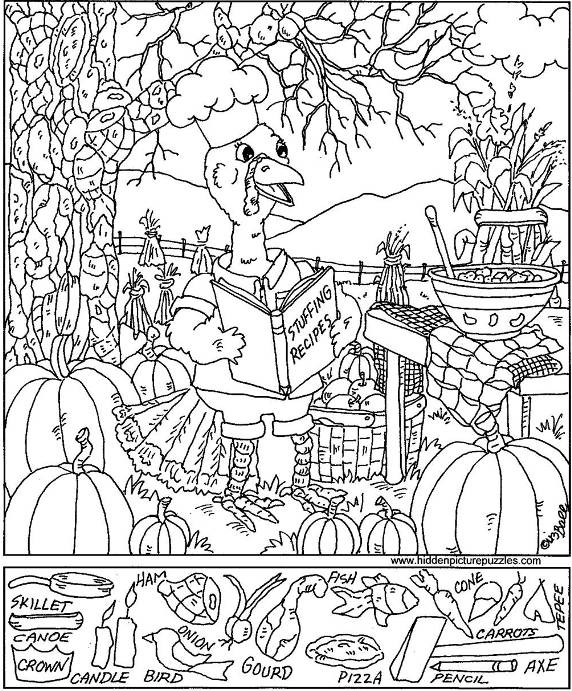 Free puzzles for Coloring pages for adults with hidden objects