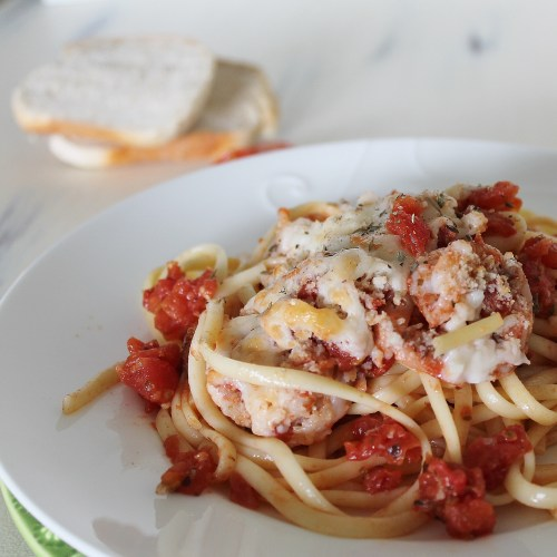Shrimp Scampi with Tomatoes