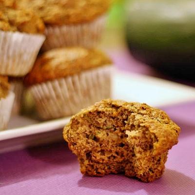 zucchinibananaflax muffins