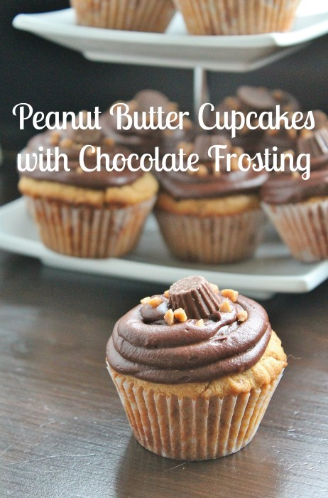 Peanut Butter Cupcakes with Chocolate Frosting | www.hiddenponies.com