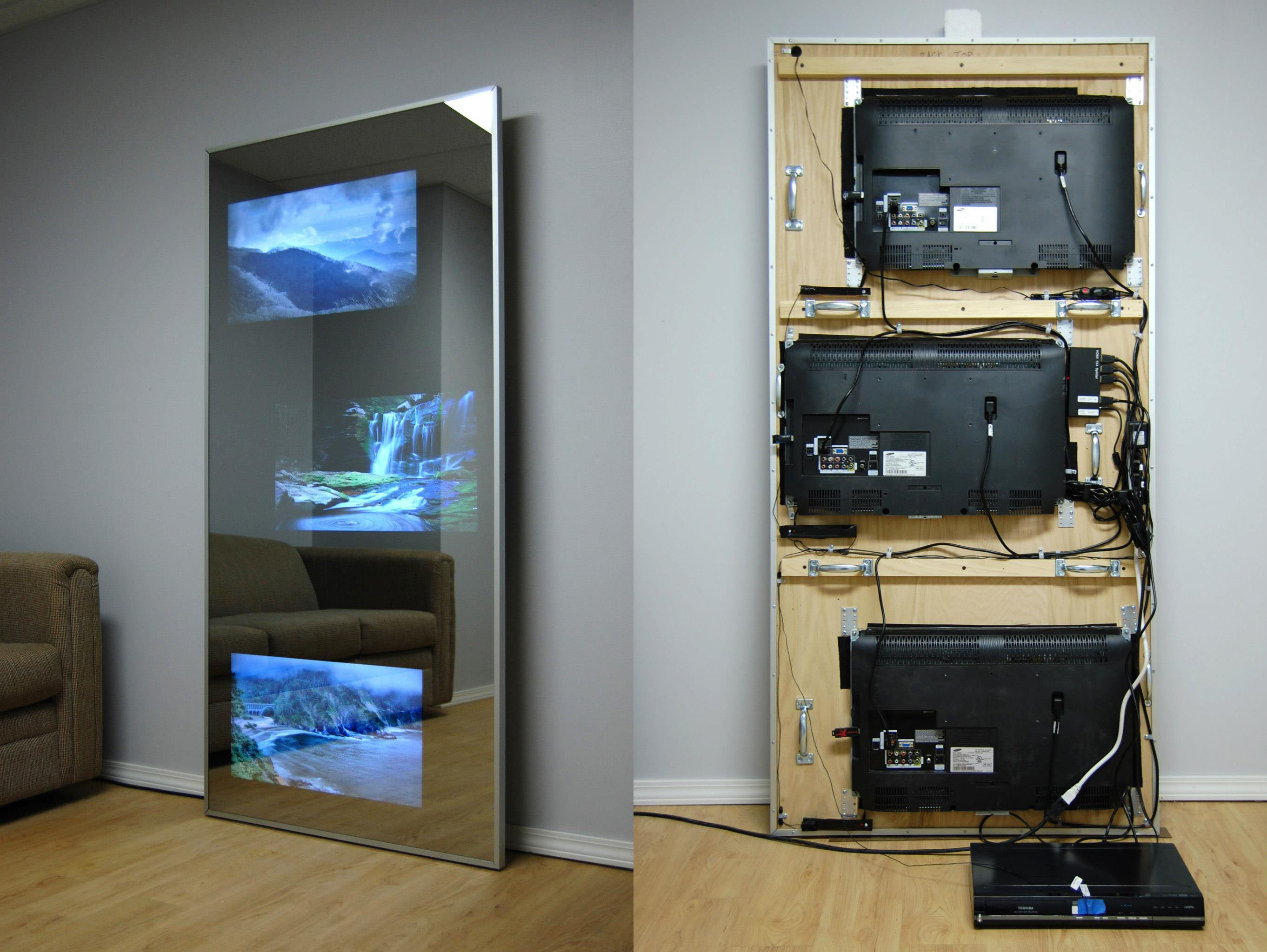 Bathroom Mirrors With Tv Built In Tv Mirror Photo Gallery