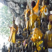 Pak Ou Caves with many Buddhas