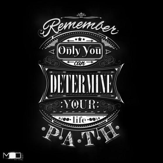 New Typography Graphic Tshirt \u201cThe Path\u201d at Design by Humans \u2014 Hide