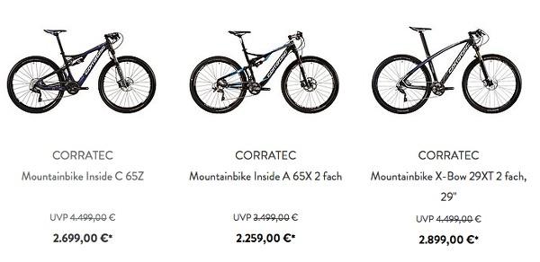 CORRATEC Mountainbike eBike Kinderfahrrad günstiger