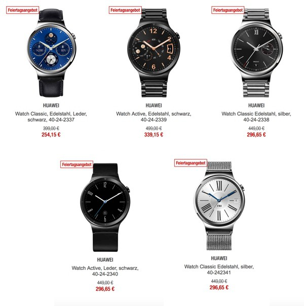 huawei watch android uhren bis zu 25 g nstiger. Black Bedroom Furniture Sets. Home Design Ideas