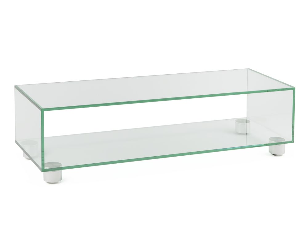 Tv Rack Glas Mit Rollen Tv Möbel Cubo 1120 | Audioraq | Hifi-tv-moebel.ch