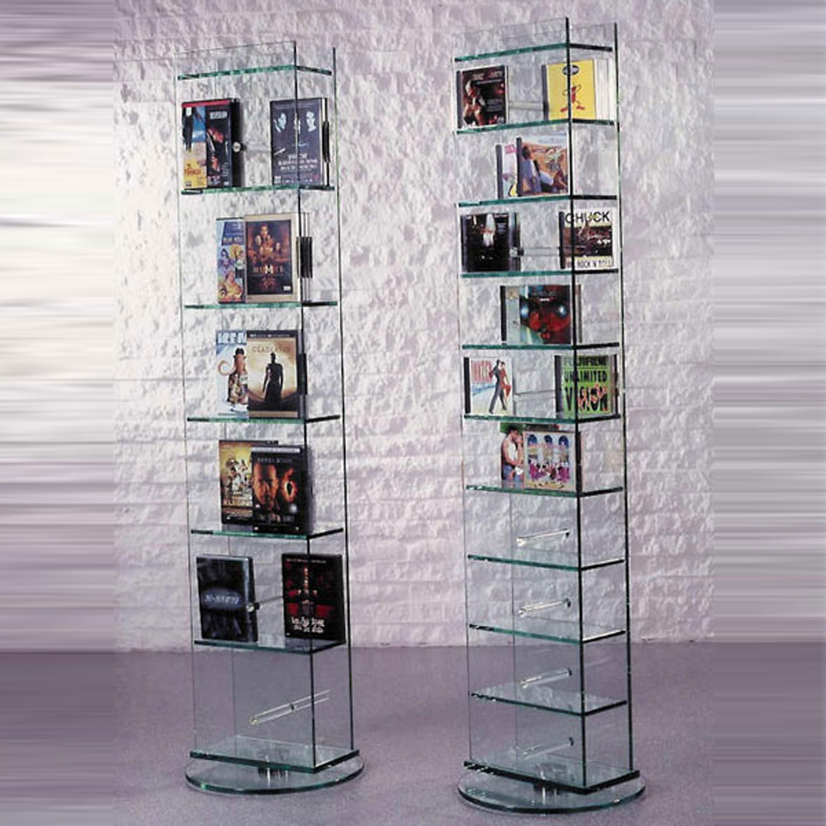 Cd Glasregale Glass Concept New York Cd Dvd Glasregal Bei Hifi Tv Moebel De