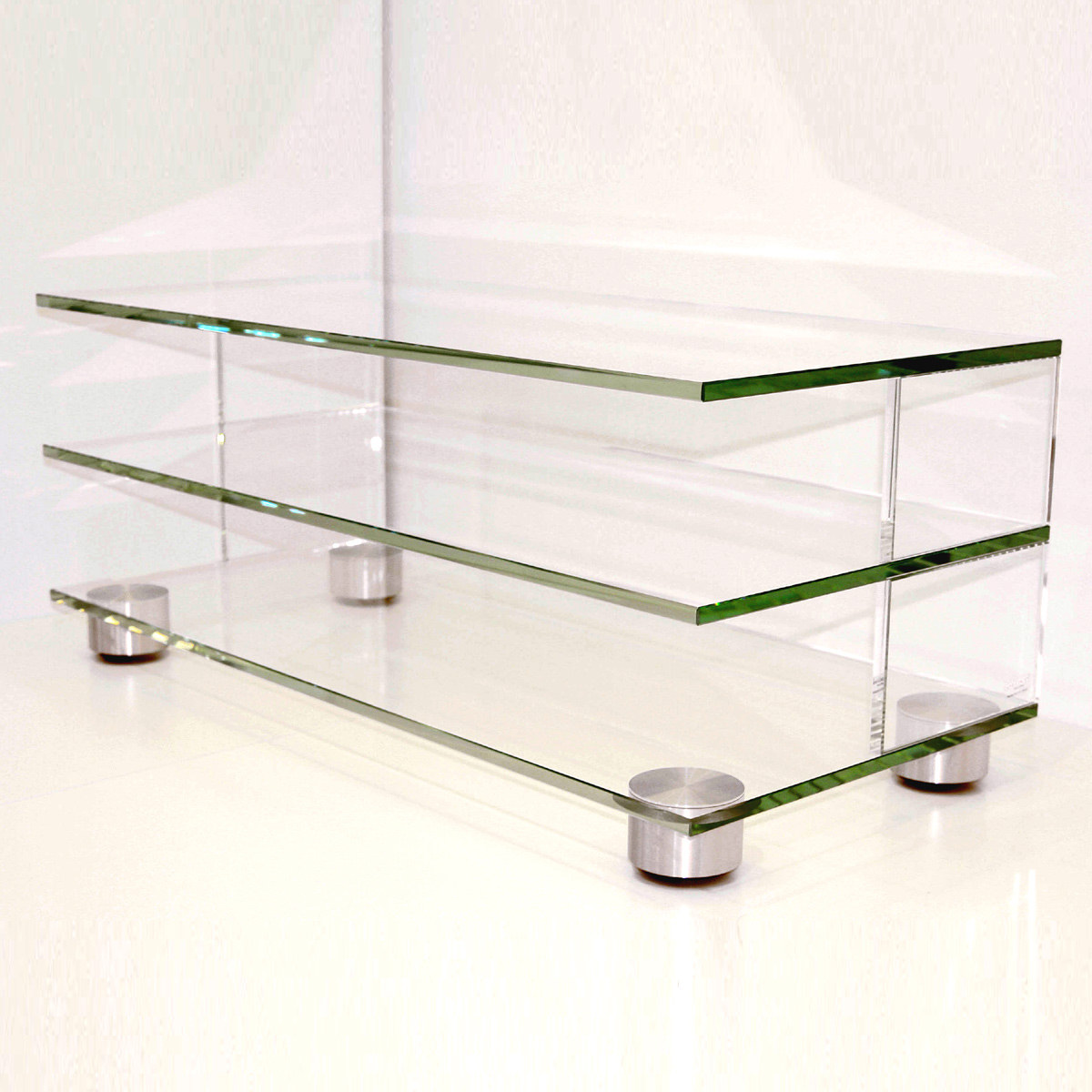 Tv Rack Glas Mit Rollen Glass Concept Mid Roll F / Tv Wagen / Rollbar Bei Hifi-tv-moebel.de