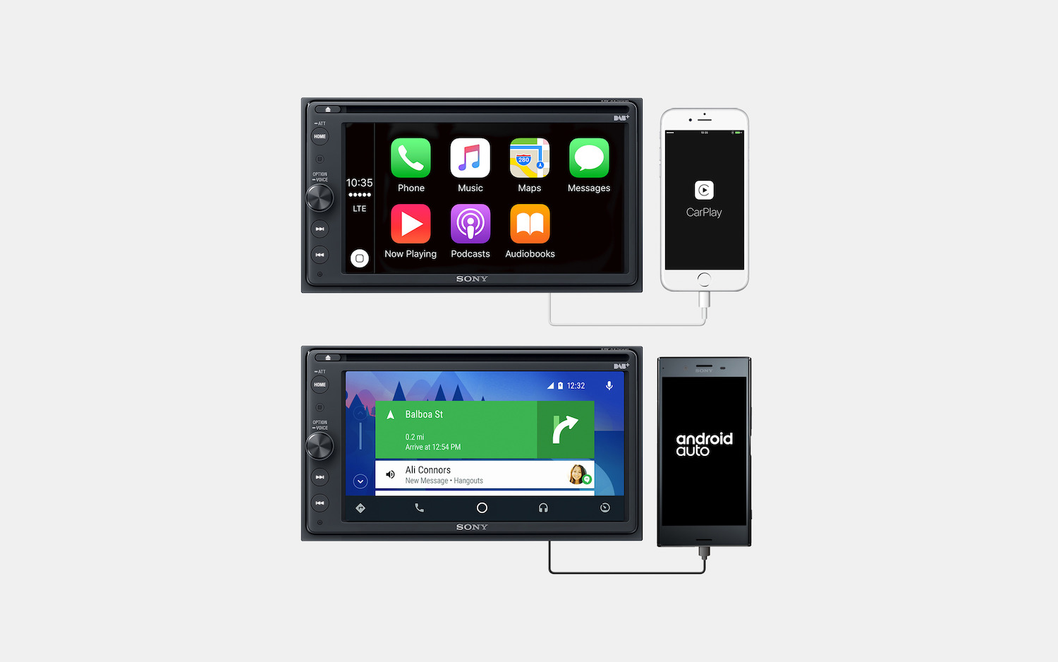 Android Auto Nederland Carfi Sony Receiver Met Dab 43 Voor Apple Carplay En Android