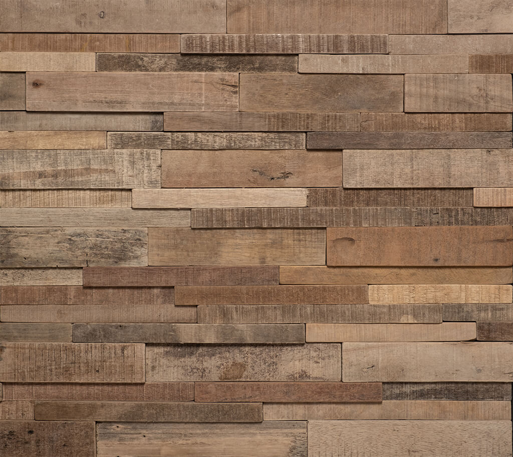 Natural Wood Feature Wall Panels With Interlocking Panel Installation Uk