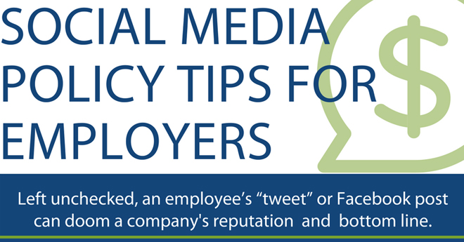 Infographic - Social Media Policy Tips for Employers Higgs
