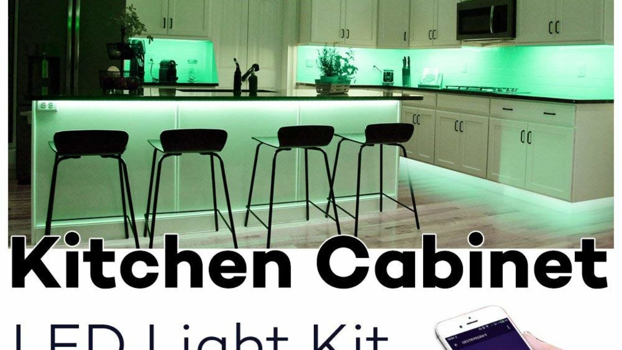 Led Light Strips Under Counter Best Wifi Controlled Kitchen Cabinet Lighting High Tech