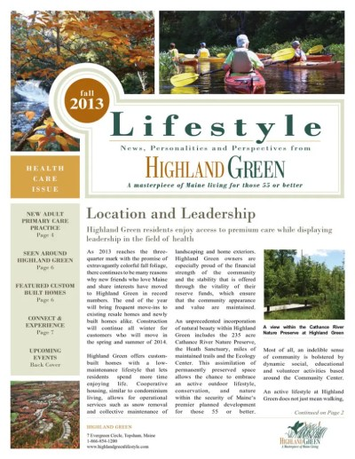 Highland Green Newsletters | Highland Green Retirement ...