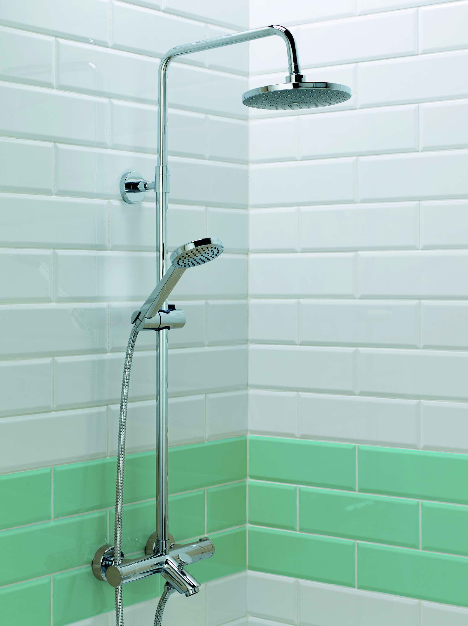 Bath With Shower Stroma Thermo Bath Shower Mixer Round Head With Fixed Rail Kit