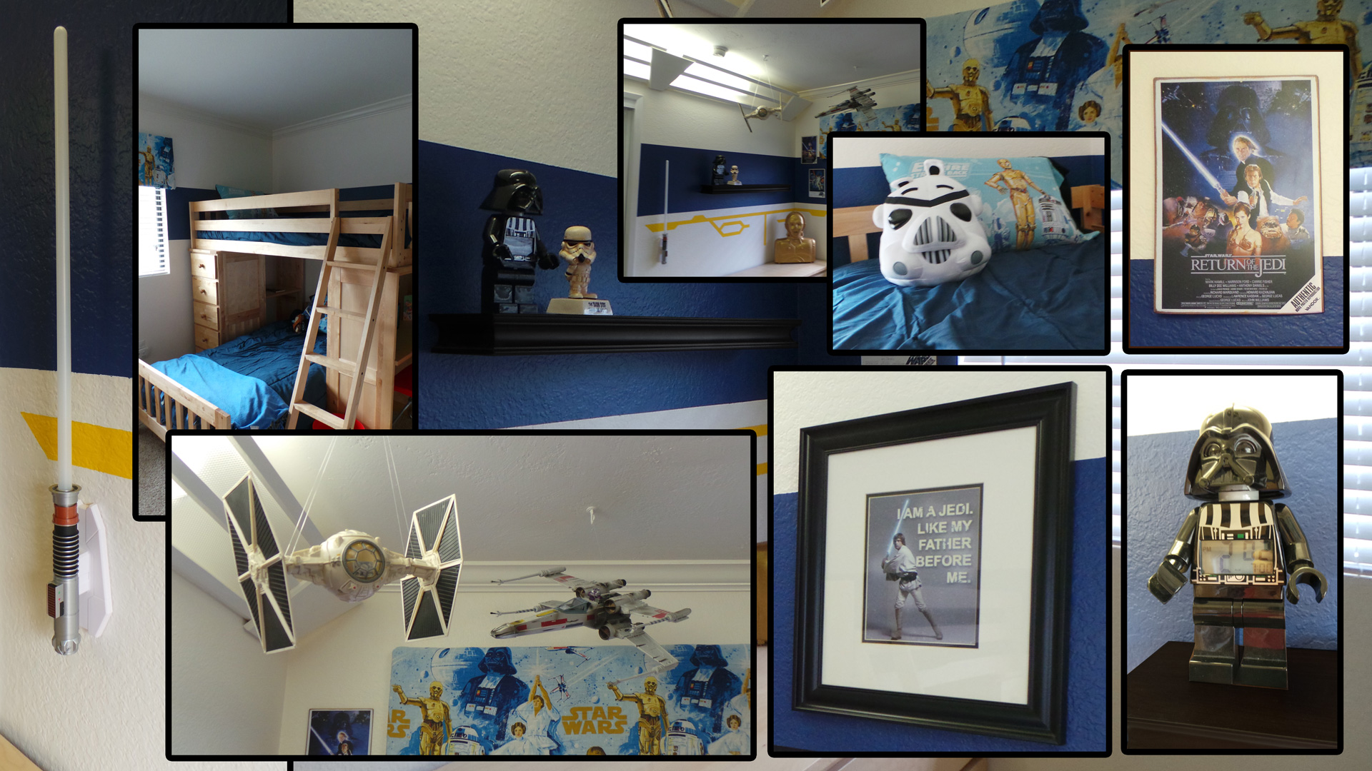 Star Wars Themed Bedroom Ideas Star Wars Room Highlights Along The Way