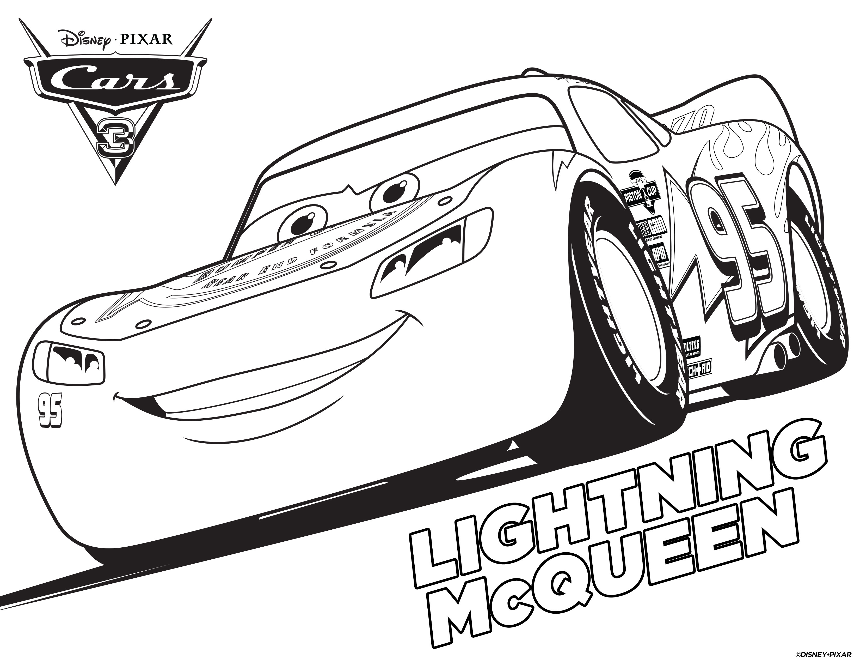 Cars 3 lightning mcqueen coloring page cars 3 coloring pages
