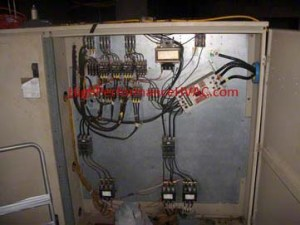 Old McQuay Chiller Control Panel – Electro-Mechanical Controls