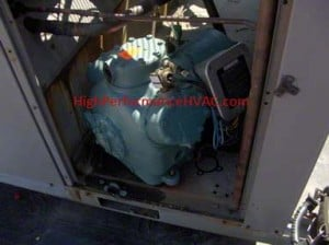 The Compressor in an HVAC refrigeration system