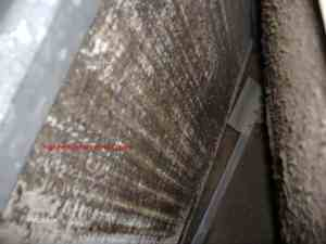 Dirty Evaporator Coils and Ice on Air Conditioner