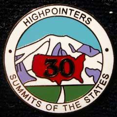 30 State Enameled Pin