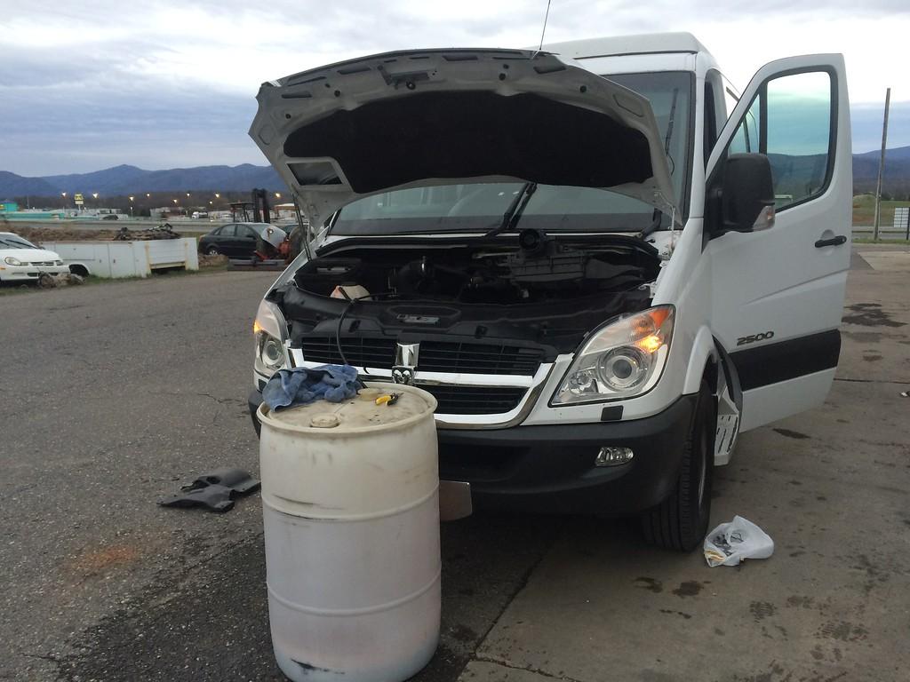 how to drain your fuel tank on your Sprinter Van - Sprinter-Forum
