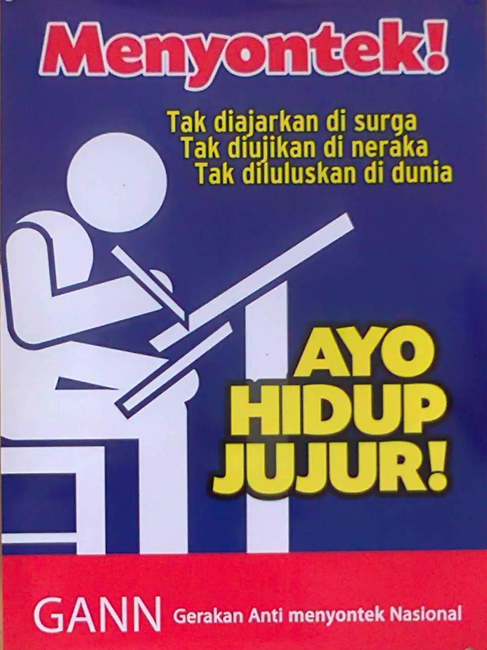 Contoh Gambar Slogan Slogan Pendidikan Kumpulan Contoh Gambar Slogan Paling Menarik Ayo Hidup Jujur By Hijihawu