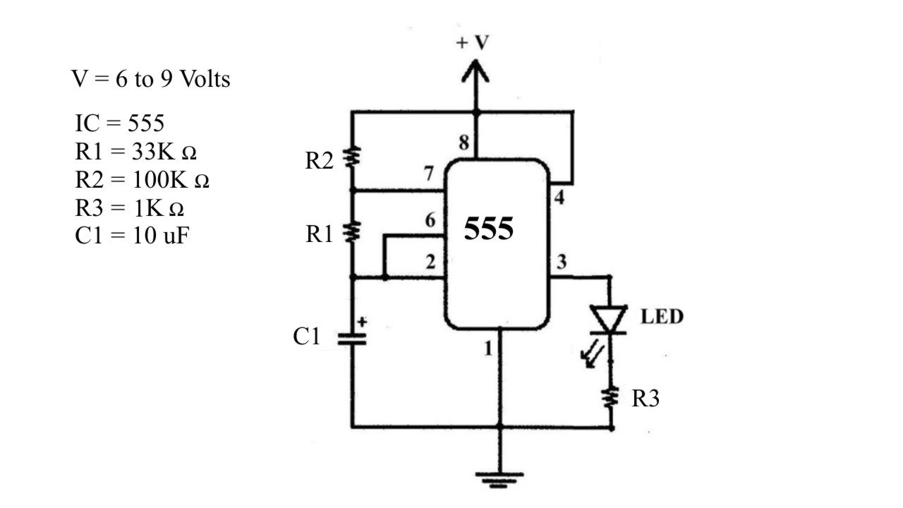 wineyardstudents 555 timer with one led