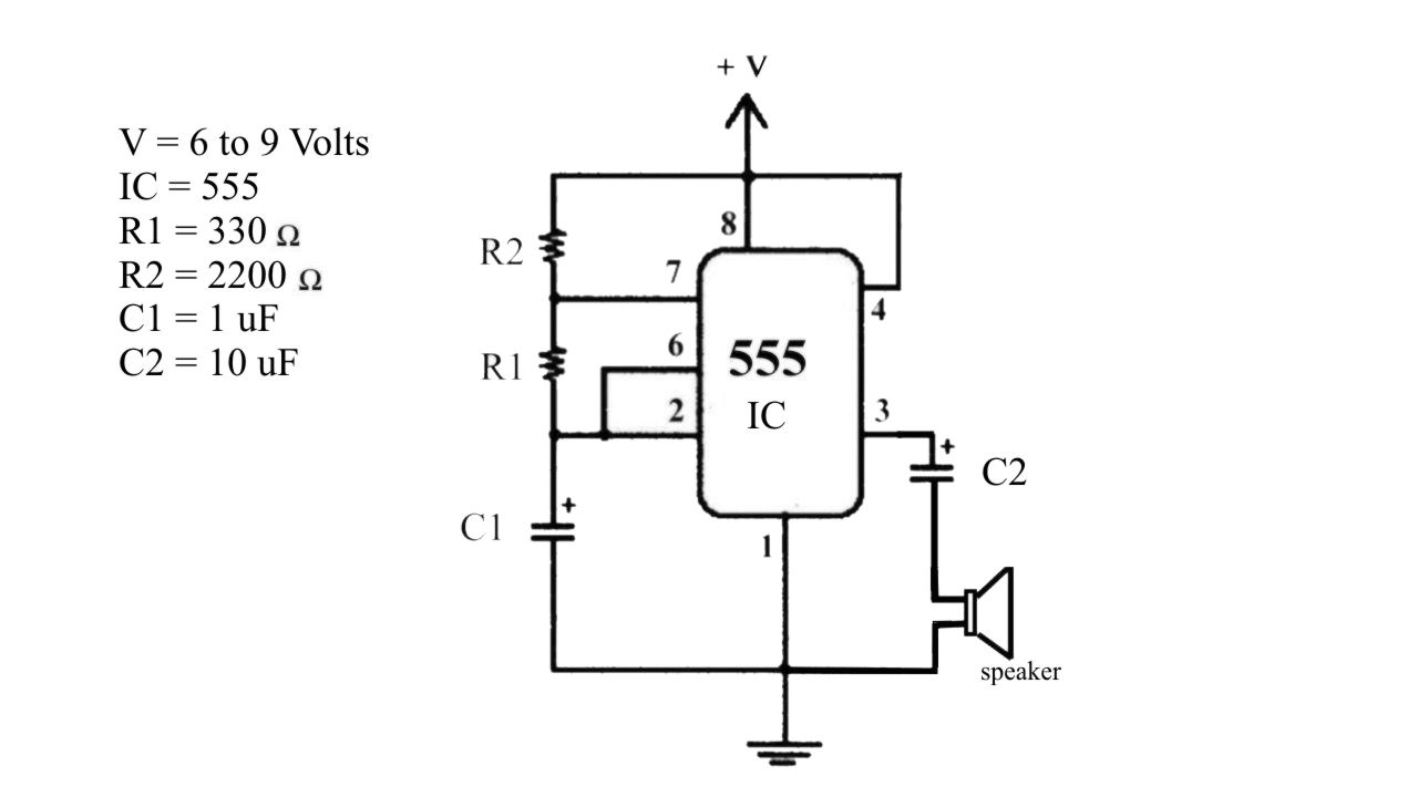 555 led flasher circuit
