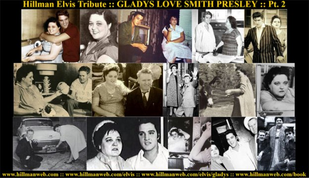 Collage Poster Gladys Presley Tribute