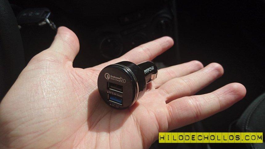 doble cargador baterías coche