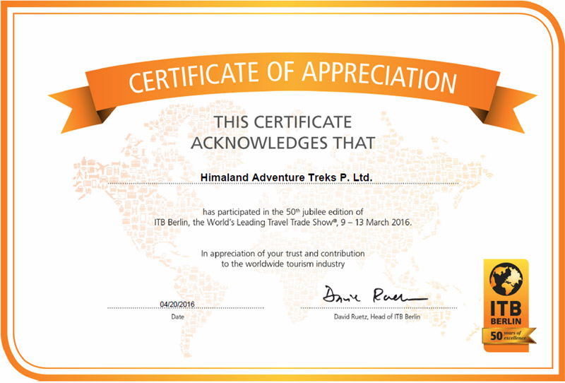 Appreciation/Certificates