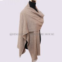 Natural Brown and White Cashmere Pashmina Shawl ...