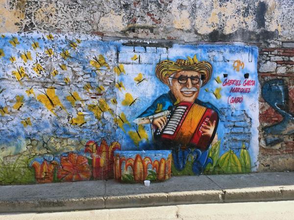 A mural of Gabriel García Márquez in Getsemani, Colombia. Photo: Manjushree Thapa