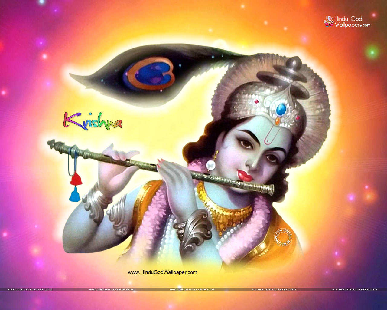 Photos Picture God Krishna With Flute Cow Wallpaper Download